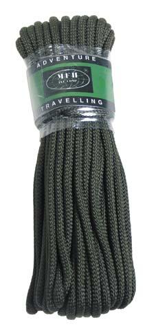 MFH polypropylénové lano 15 metrů 9mm olivové