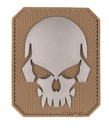Mil-tec 3D nášivka Skull, dark coyote