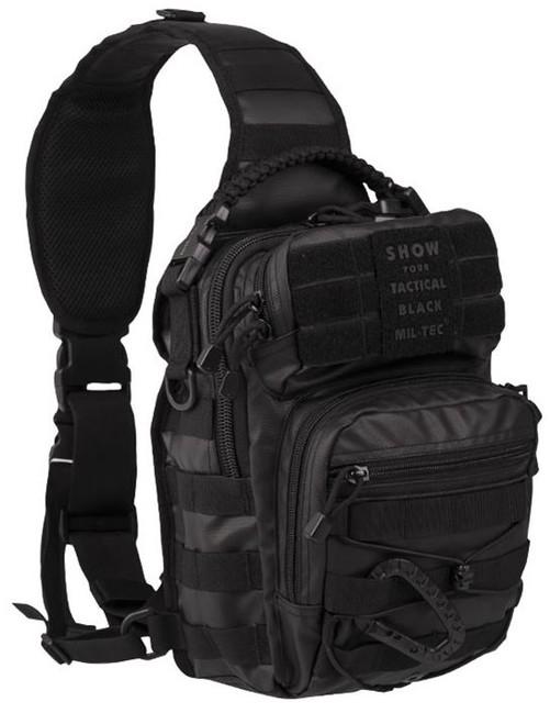 Mil-tec Tactical batoh jednopopruhový, černý 10L