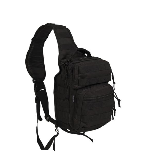 Mil-tec Assault small batoh jednopopruhový, černý 10L