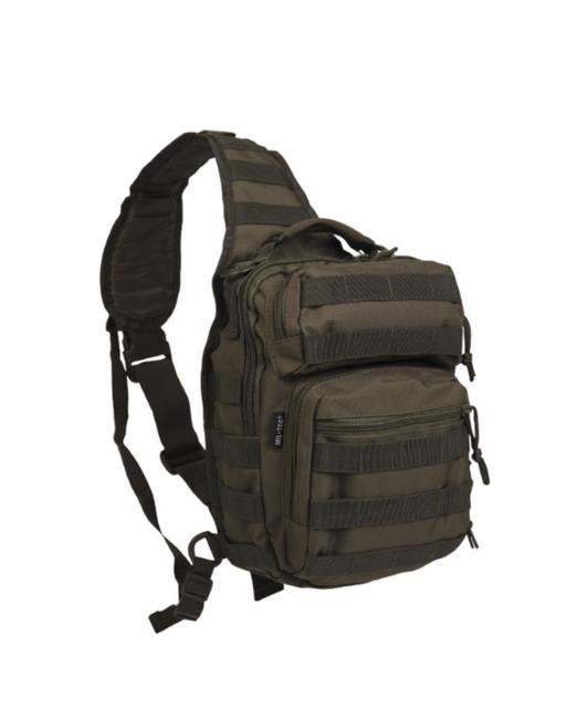 Mil-tec Assault small batoh jednopopruhový, olivový 10L