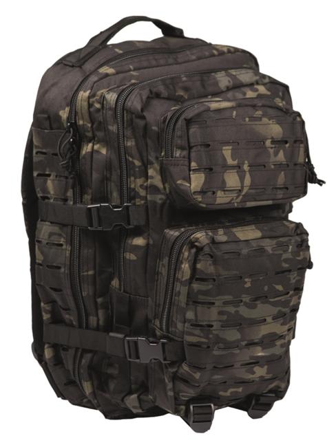 Mil-Tec batoh US Assault Large Laser Cut, multitarn black, 36L