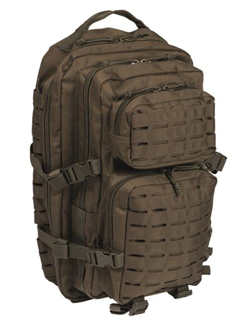 Mil-Tec batoh US Assault Large Laser Cut, olivový, 36L