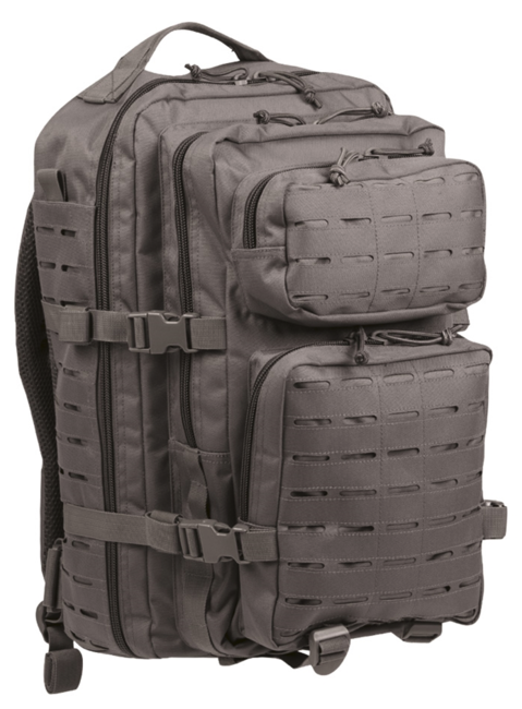 Mil-Tec batoh US Assault Large Laser Cut, šedý, 36L