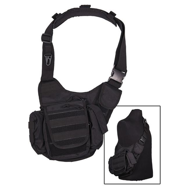 Mil-tec multifunkční Molle taška přes rameno, černá