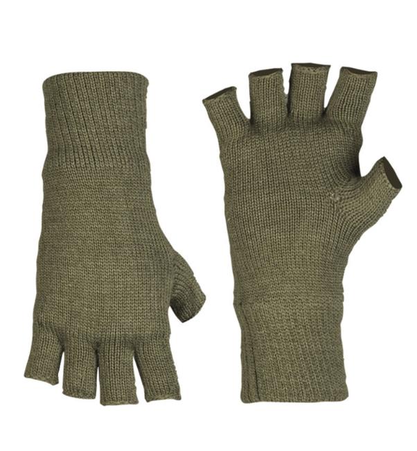 Mil-tec rukavice Thinsulate ™ pletené bez prstů, olivové