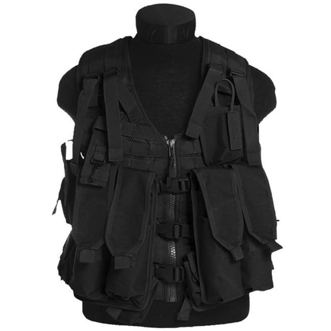 Mil-Tec taktická vesta AK47 Molle 12 kapes, černá