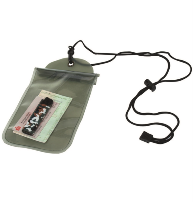 Mil-tec vodotěsné pouzdro na krk, olivové 140x230mm