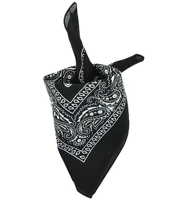 Mil-tec Western šatka bandana, černý