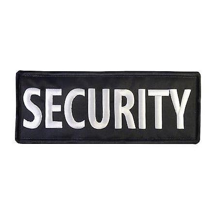 Nášivka security velká, černá, 30 x 10,5 cm