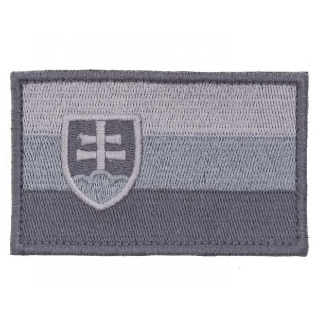 Nášivka Slovenská vlajka, šedá 8x5cm