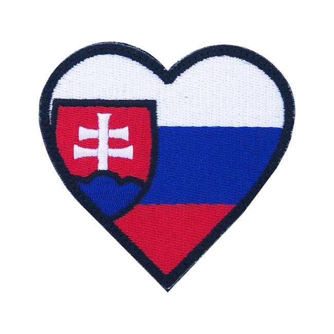 Nášivka Slovenský znak srdce, 7x7cm