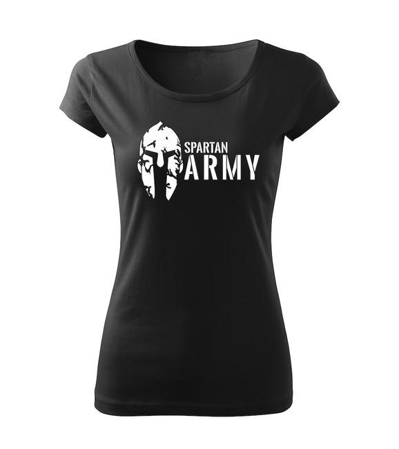 Levně WARAGOD dámské tričko spartan army, černá 150g/m2 - XS