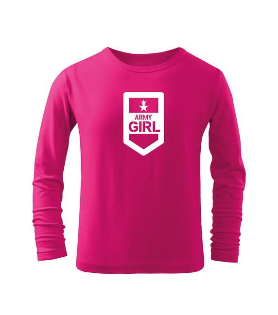 Levně WARAGOD Dětské dlhé tričko Army girl, růžová - 12let/158cm