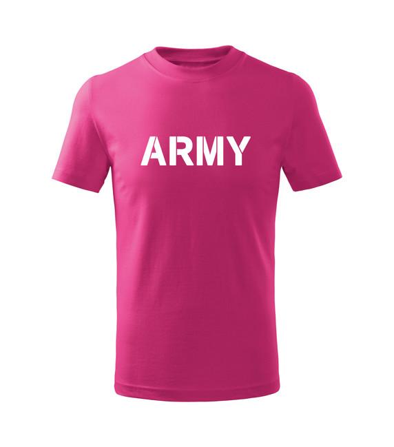 Levně WARAGOD Dětské krátké tričko Army, růžová - 6let/122cm