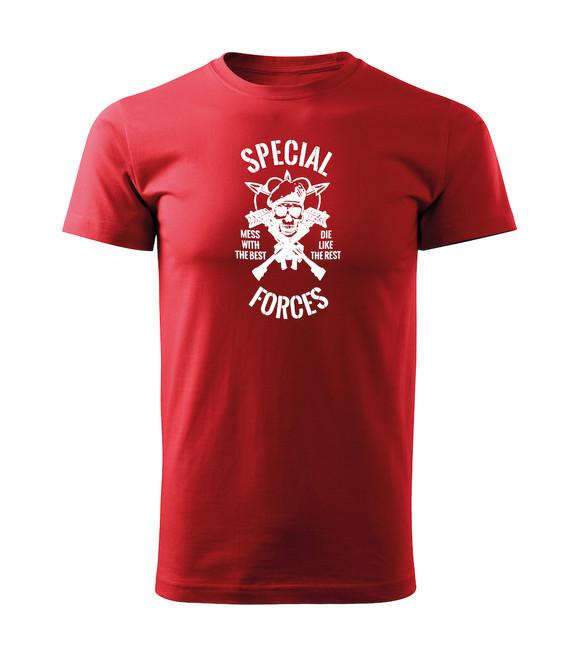 Levně WARAGOD krátké tričko special forces, červená 160g/m2 - 3XL