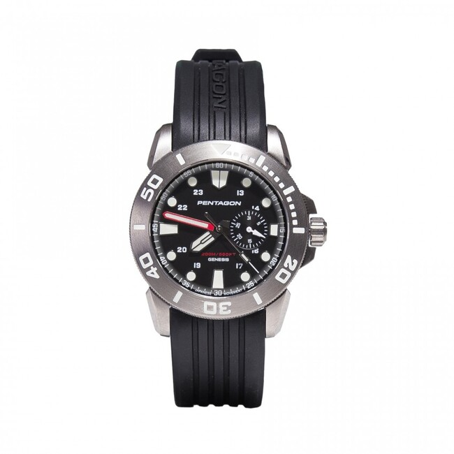 Pentagon hodinky GENESIS, stříbrné