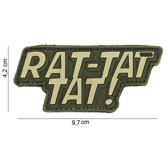 """M-Tramp PVC nášivka """"Rat-tat-tat!"""""""
