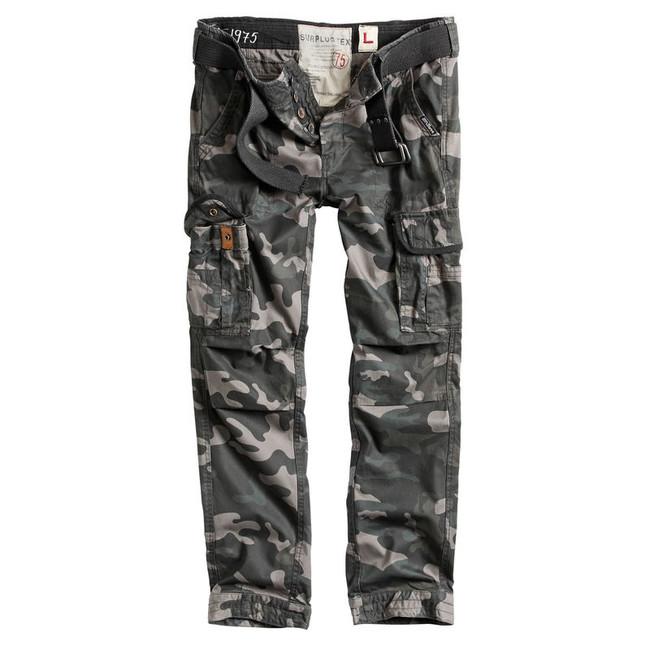 Surplus Premium Slimmy kalhoty, black-camo - M