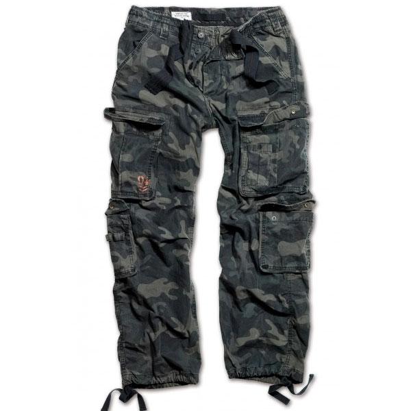 Surplus Vintage kalhoty, black-camo - 3XL