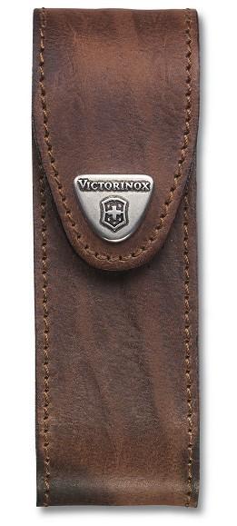 Victorinox pouzdro kožené - dlouhé hnědé do 111mm s 4 až 6 vrstvami
