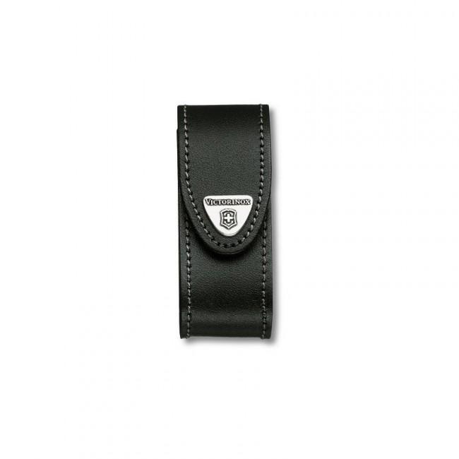 Victorinox pouzdro kožené - standardní černé do 91mm