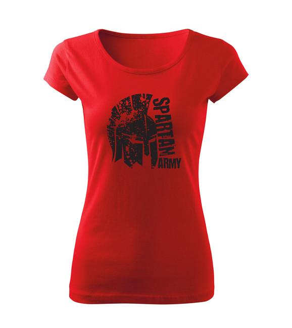 Levně WARAGOD dámske krátke tričko León, červená 150g/m2 - XXL