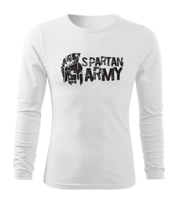 Levně WARAGOD Fit-T tričko s dlouhým rukávem Aristón, bilá 160g / m2 - M