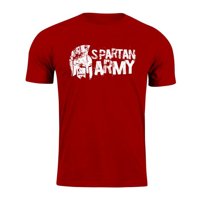 Waragod krátké tričko spartan army Aristón, červená 160g/m2 - L
