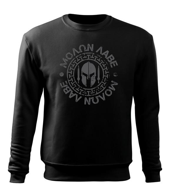 Levně WARAGOD pánská mikina Molon Labe, černá 300g / m2 - XL