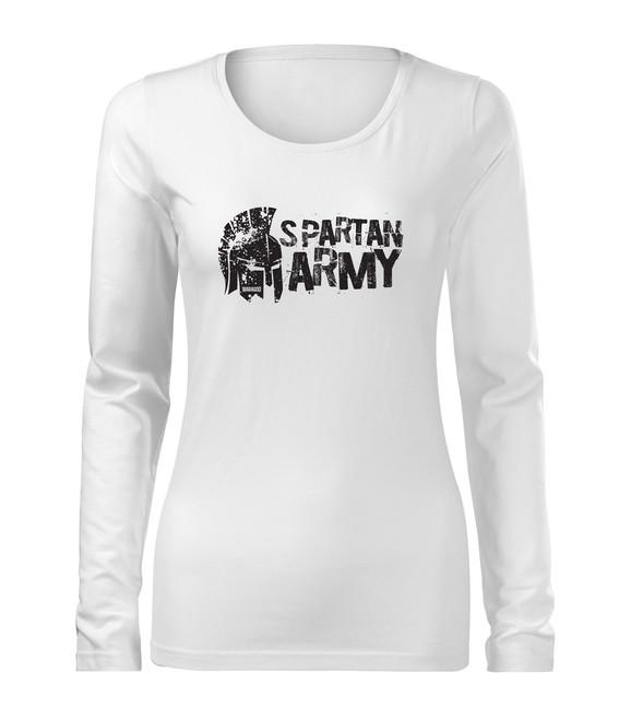 WARAGOD Slim dámské tričko s dlouhým rukávem Aristón, bílá 160g / m2 - XS