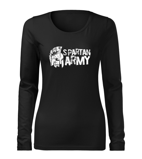 WARAGOD Slim dámské tričko s dlouhým rukávem Aristón, černá 160g / m2 - XS