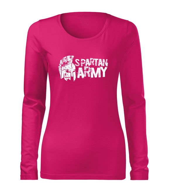 WARAGOD Slim dámské tričko s dlouhým rukávem Aristón, růžová 160g / m2 - XS