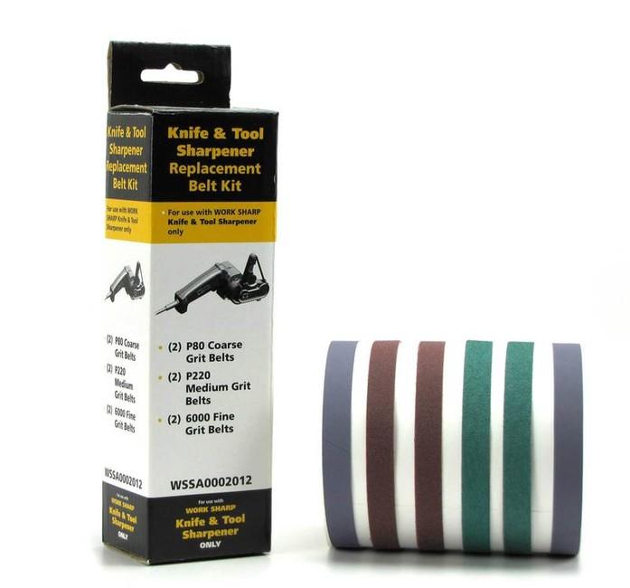 Work Sharp náhradní brusné pásy 80/220/6000 k brusce WSKTS-I, 6-pack